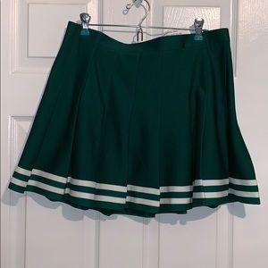 Dresses & Skirts - Never Been worn green and white cheer skirt